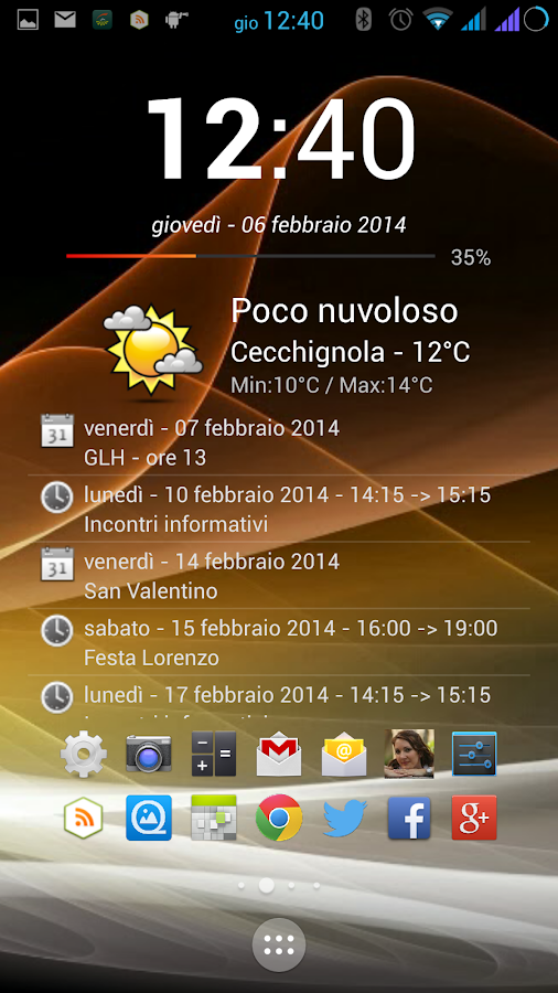 Calendar App Widget Android : Clock calendar widget android apps on google play
