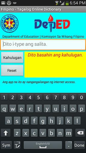Filipino - Tagalog Dictionary