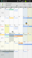 Screenshot of Personal Calendar