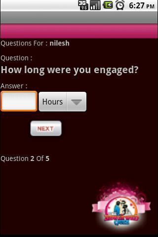 The Newlywed Quiz - screenshot