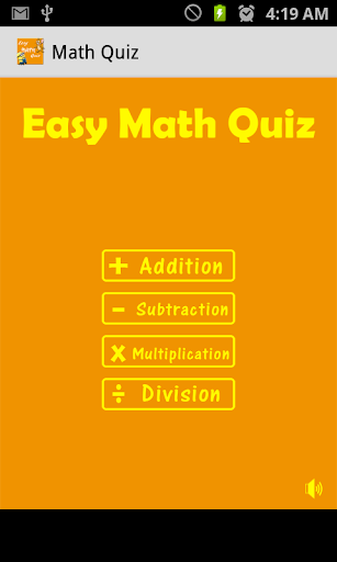 Easy Math Quiz