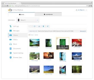 G Cloud Backup Screenshot 2