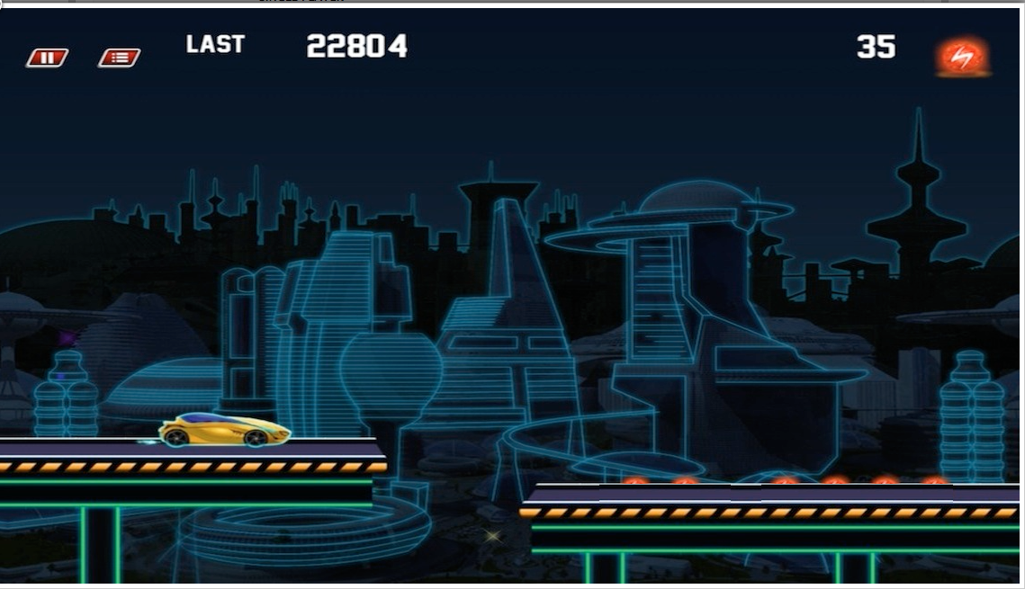 Neon Car Race Blitz F1 - screenshot