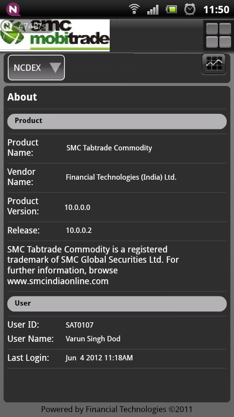 SMC mobitrade Commodity - screenshot