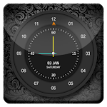 Abstract Black HD Analog Clock