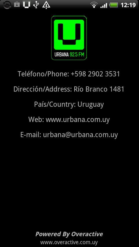 Urban FM Uruguay- screenshot