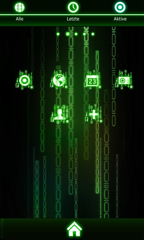 Detailed Matrix Theme - screenshot