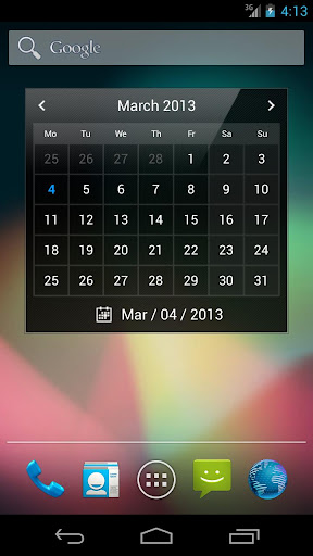 Droid Calendar Widget S