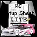 Rc Car Setup Sheet LITE