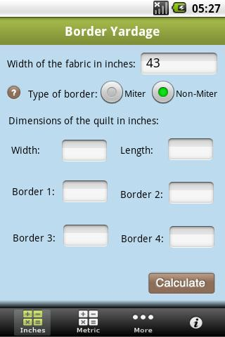 Quilting Calculators- screenshot