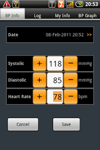 Blood Pressure Tab