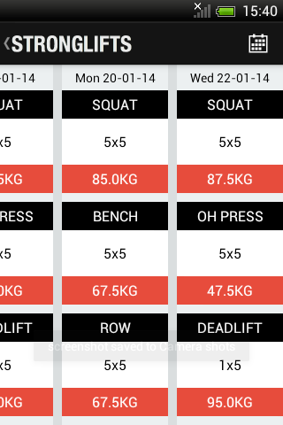 StrongLifts 5x5 - Official App - screenshot