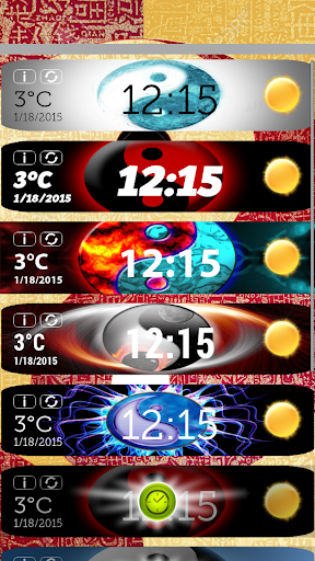 Yin Yang Clock Weather Widget