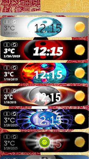 陰陽時計天気ウィジェット