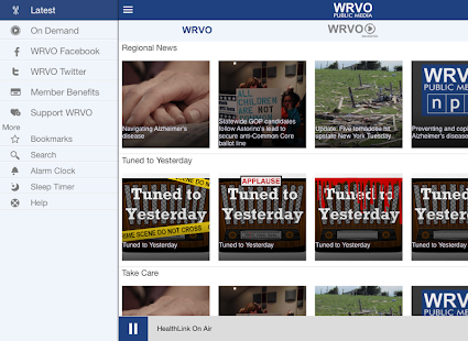 WRVO Public Media App- screenshot thumbnail