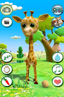 Screenshot of Talking Giraffe Free