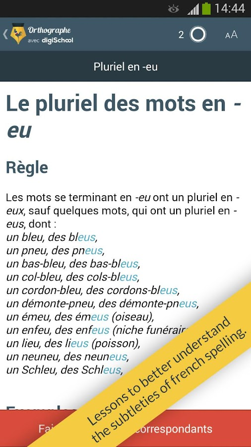 French spelling by digischool- screenshot