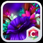Blue Flower Theme Purple Bloom