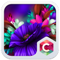 Blue Flower Theme Purple Bloom icon