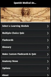Spanish Medical Anatomy Guide screenshot for Android