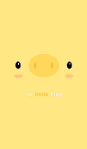 The Little Piggy 노랑 카카오톡 테마