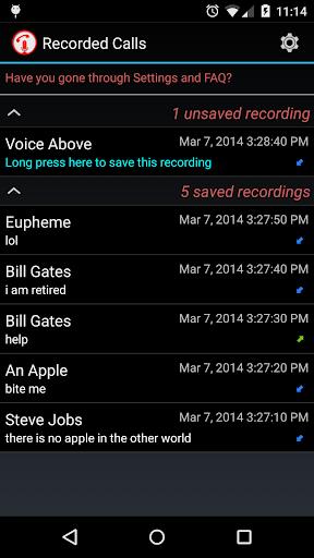 Calls Recall 電話錄音