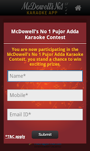 McDowell's No 1 Karaoke - screenshot thumbnail