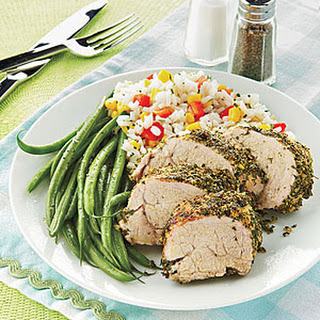 Pork Tenderloin with Cornmeal-Herb Crust