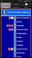 Screenshot of Metro+ (Madrid subway, buses)