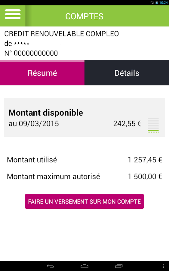Groupama Banque Mobile - screenshot