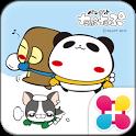 パンダのたぷたぷ冬Ver.for[+]HOMEきせかえテーマ icon