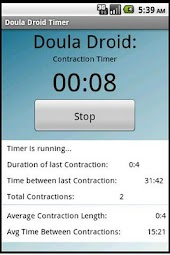 Doula Droid Contraction Timer
