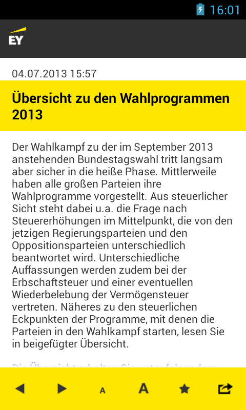 EY Tax & Law DE News - screenshot