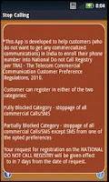 Screenshot of Stop Calling