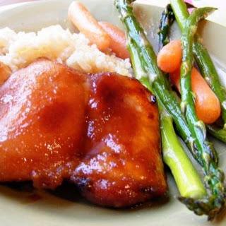 Teriyaki Honey Chicken.