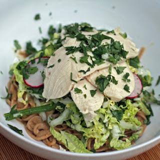 Mindy Fox's Peanut Soba, Cabbage, and Chicken Salad
