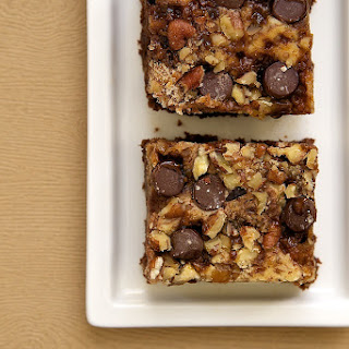 Cream Cheese Brownies with Toffee and Pecans