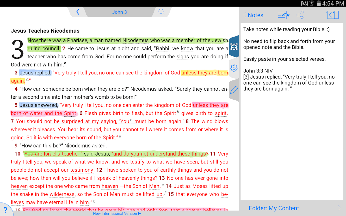NIV Study Bible by Zondervan - screenshot