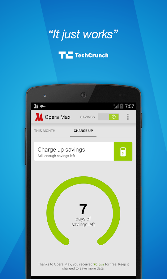 Opera Max beta - Save data - screenshot