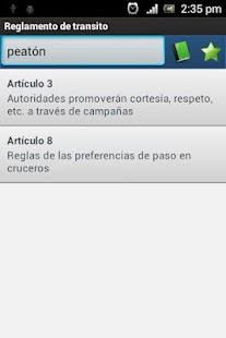 Reglamentos de tránsito - screenshot thumbnail