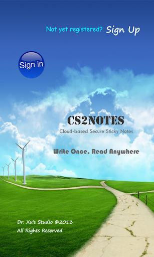 CS2Notes - Cloud Notes Notepad