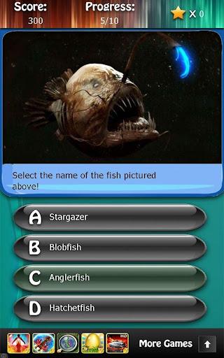 Deep Sea Ocean Fish Quiz HD