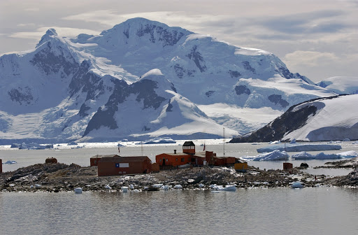 126d2WaterboatPoint - Waterboat Point is a Chilean outpost visited by most cruise vessels. It's home to a huge colony of gentoo penguins.