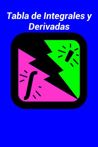 Tabla integrales y derivadas