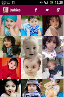 Cute Babies Gallery/LWP - screenshot thumbnail