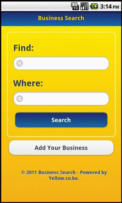 Yellow Pages Kenya - screenshot