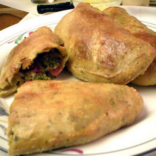 Broccoli, Pepperoni and Three Cheese Calzones.