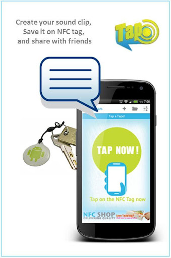 Tapogram Voice on NFC