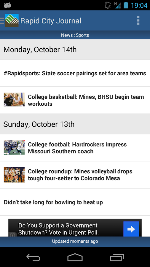 Rapid City Journal- screenshot