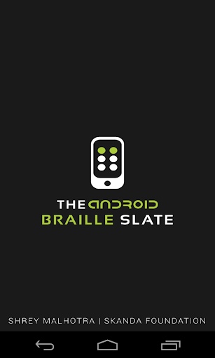 The Android Braille Slate
